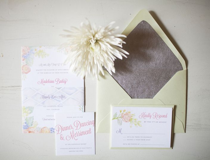 Madeleine and Joe wanted their wedding invitations to feel soft and romantic to excite their guests...