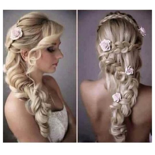 braided style with flowers