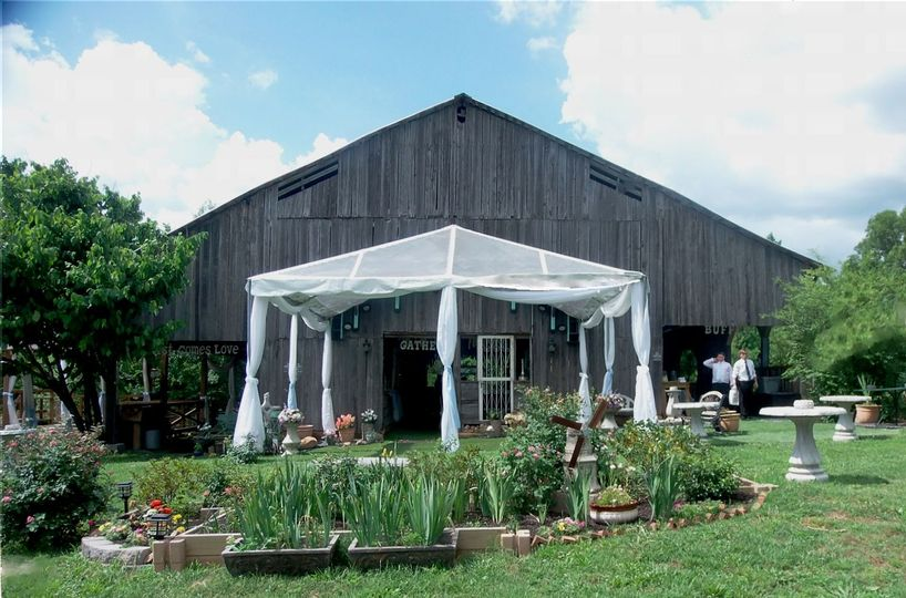 Reception Garden Barn with Greenhouse Canopy over the outdoor dance floor