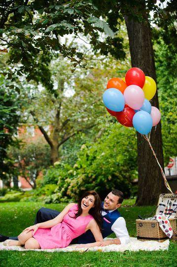 Iva and Romeo have the cutest-ever engagement photo session at Washington Square Park, Philadelphia.