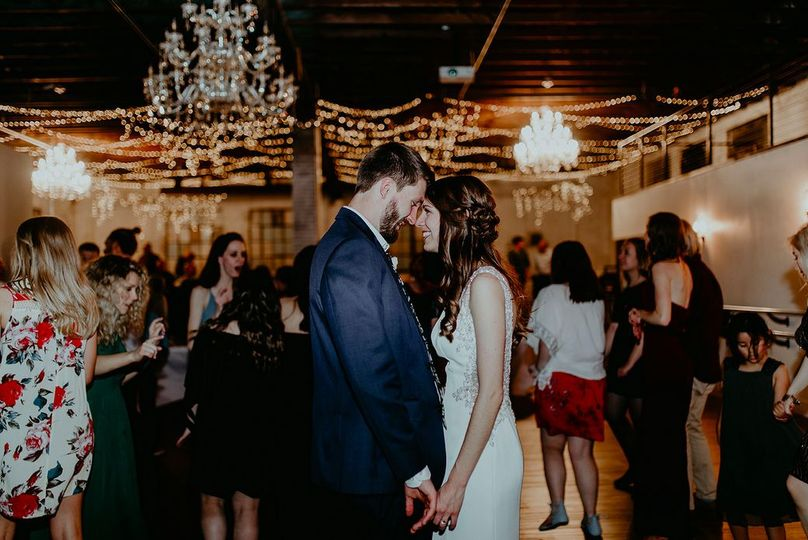 Dance floor full of guests