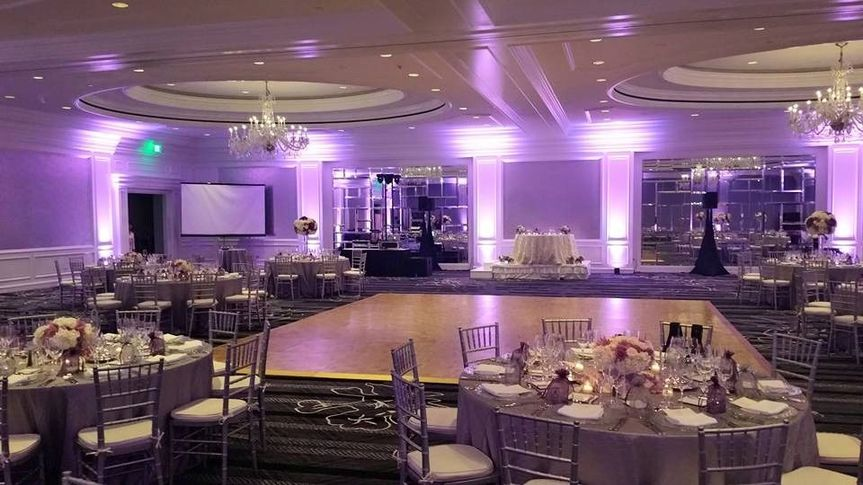 Wedding reception and dance floor