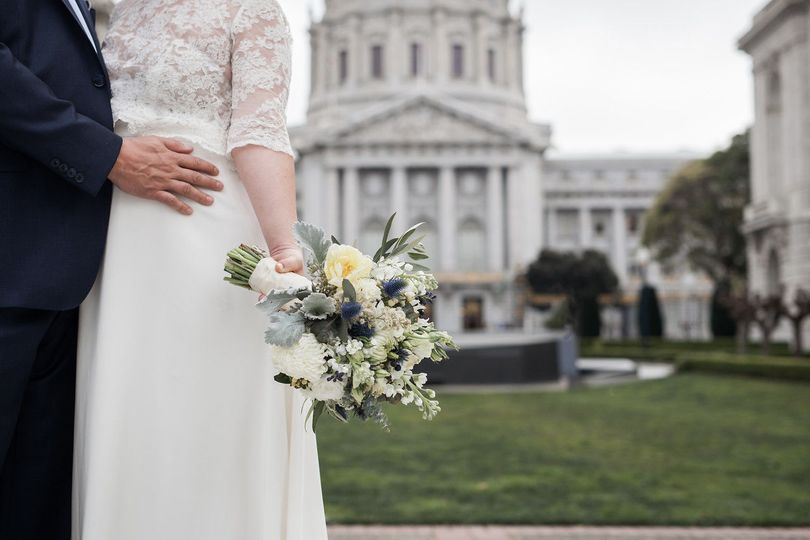 Beautiful bouquet at San Francisco City Hall