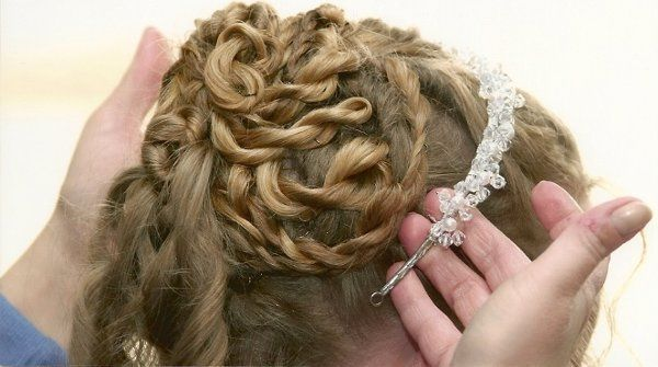 Intricate hairstyling