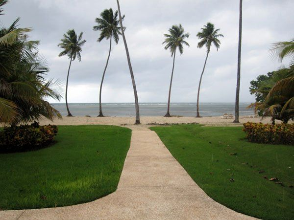 A beatiful view of the beach in Hotel Gran Meliá in Rio Grande, Puerto Rico
