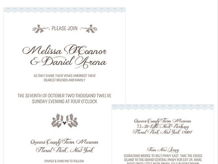 Tmx 1378224253623 Woodlandlace Patchogue wedding invitation
