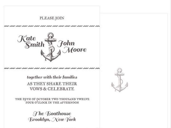 Tmx 1378224266310 Anchorsaway Patchogue wedding invitation