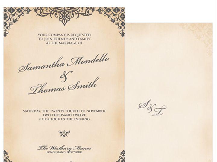 Tmx 1378224280544 Vintageglam Patchogue wedding invitation