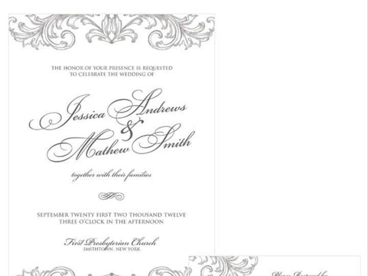 Tmx 1378224288713 Decorativescrolls Patchogue wedding invitation
