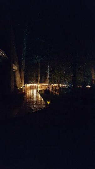 Boardwalk to wedding gardens