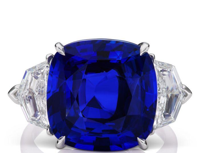 Tmx 1415735475395 Jpeg 12.70ct No Heat Vivid Blue Cushion Sapphire R Austin wedding jewelry