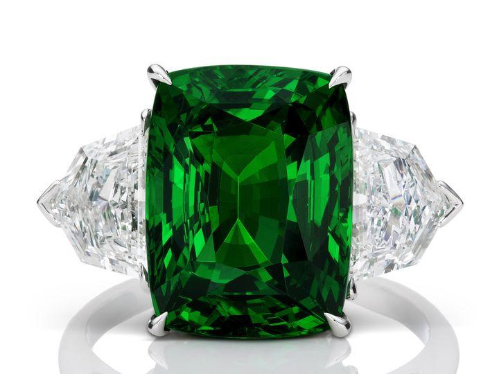 Tmx 1415735492775 Jpeg 9.03ct No Heat Vivid Green Cushion Tsavorite  Austin wedding jewelry