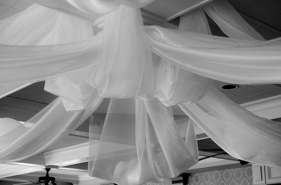 Ceiling drape details