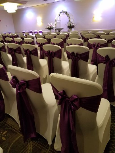 Violet chair bows