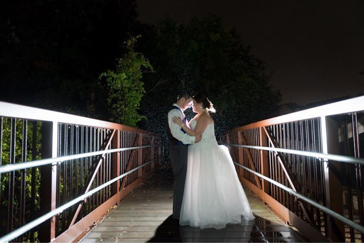 Newlyweds on the bridge