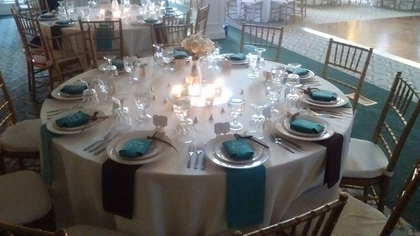 Table setting for the guests