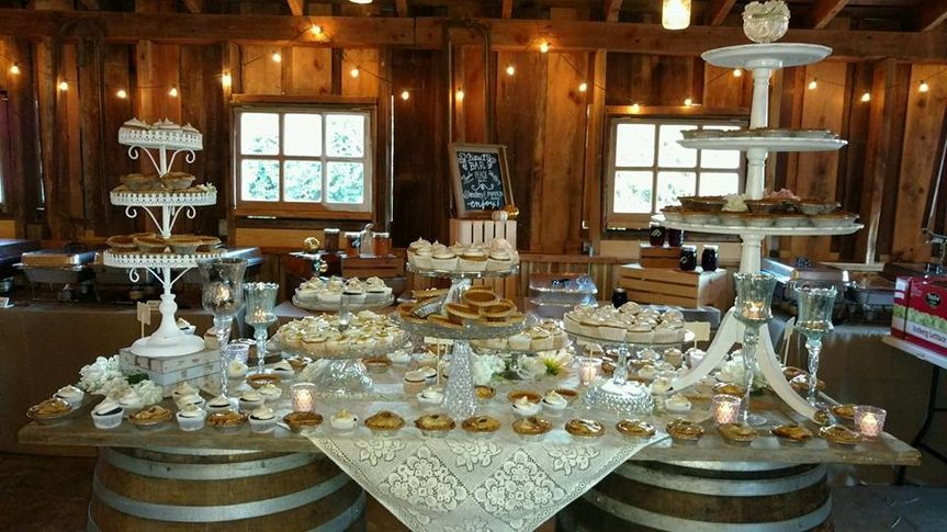 Wedding cake and other pastries