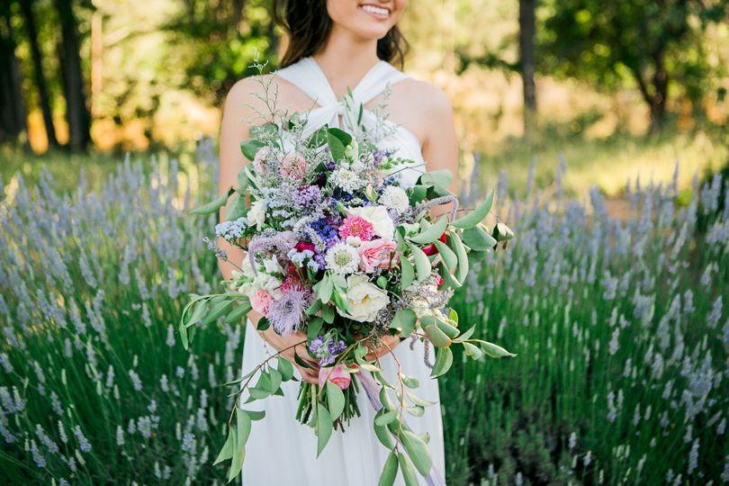 Cache Creek Lavender Farm ElopementMegan Wilkinson PhotographyFull Belly Farms FloralDress from...