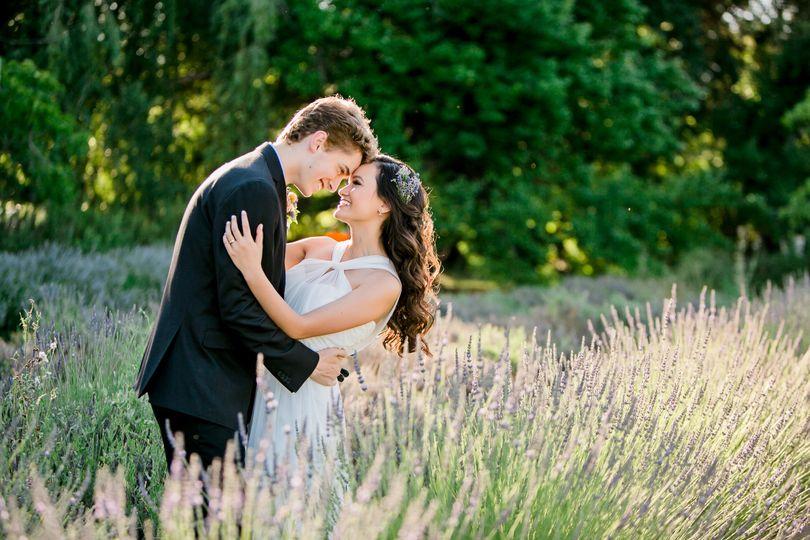 Cache Creek Lavender Farm ElopementMegan Wilkinson PhotographyDress from Belissima Bridal,...