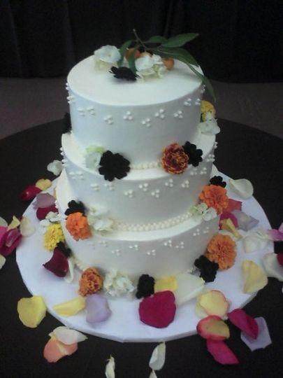 3 tier Oakland Garden wedding cake