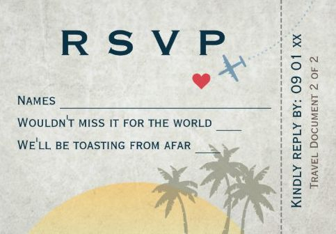 Airline Ticket Invitation