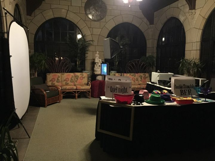 Set up for wedding guests