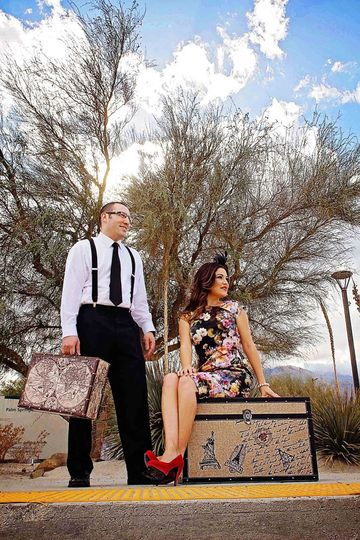 sandy art palm springs wedding engagement session