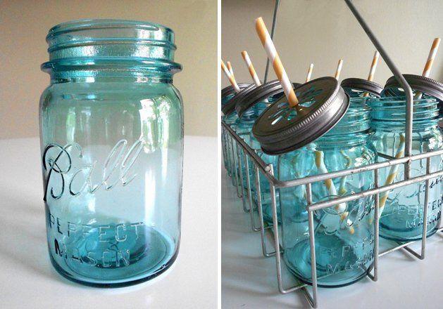 Antique Blue Jars