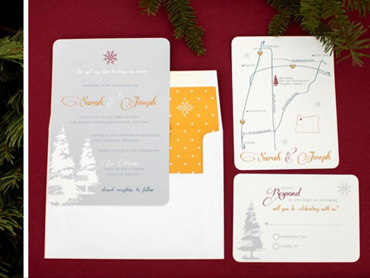 Tmx 1397946769033 Christmas Wedding Invitation Bend wedding planner