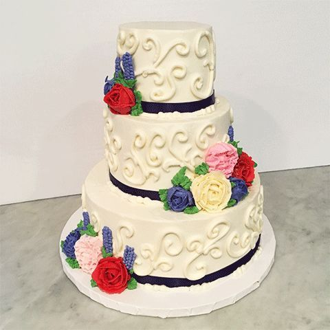 Tmx 1528463213 Cb4cd47ac8a99bff 1528463212 A249f2ba566cb3eb 1528463212460 1 3tier Colorful Flo Hicksville, NY wedding cake