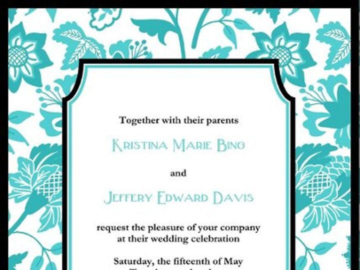 Tmx 1254337224457 FloralInvite Portland wedding invitation