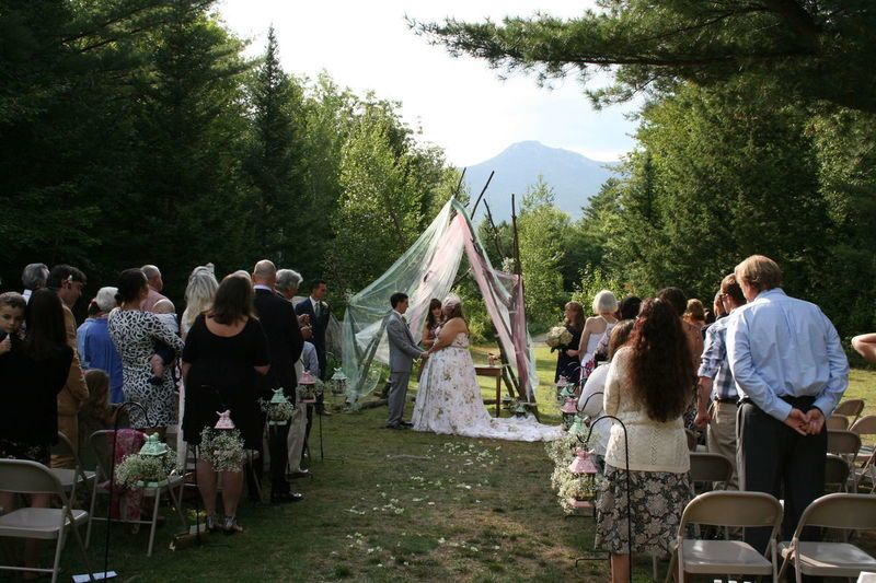 Our outdoor ceremony space