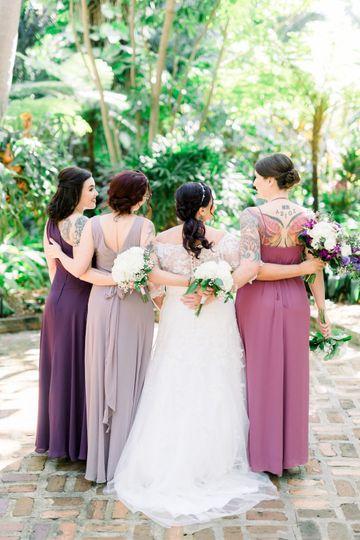 Love ombre bridesmaids dresses