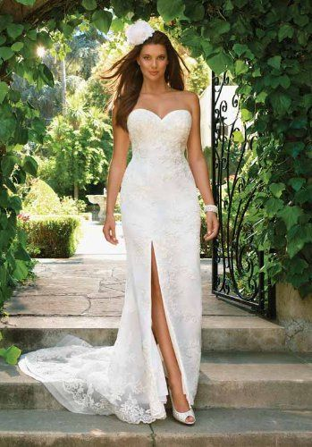 White All Beaded Wedding Gown
