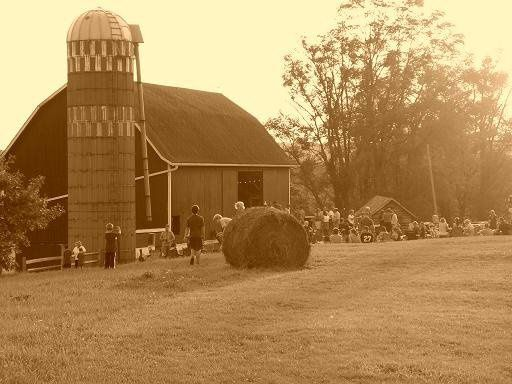 Outdoor Barn Party at Sunset