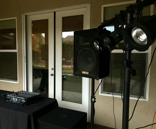 Speakers and lights