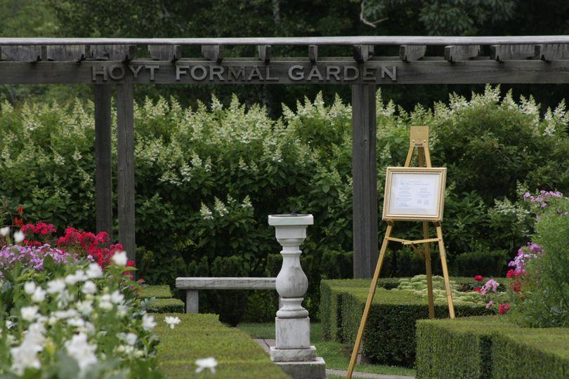 Signboard at the garden