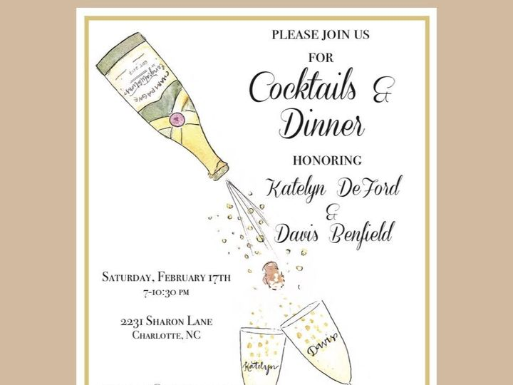 Tmx 1527602218 120cb1c2d4f55778 1527602216 884b7ab45c476b1a 1527602216215 2 Benfield Invite Raleigh, NC wedding invitation