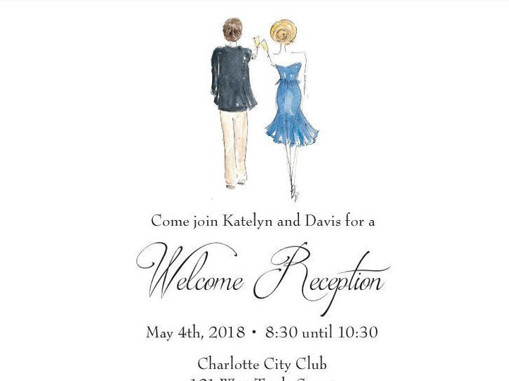 Tmx 1533738179 51f4fdea6b06ebba 1533738178 D424ea3af5f95e17 1533738178694 2 Invite Kate And Da Raleigh, NC wedding invitation