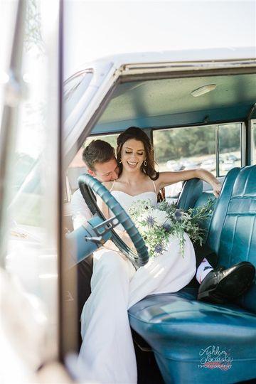 Newlyweds car