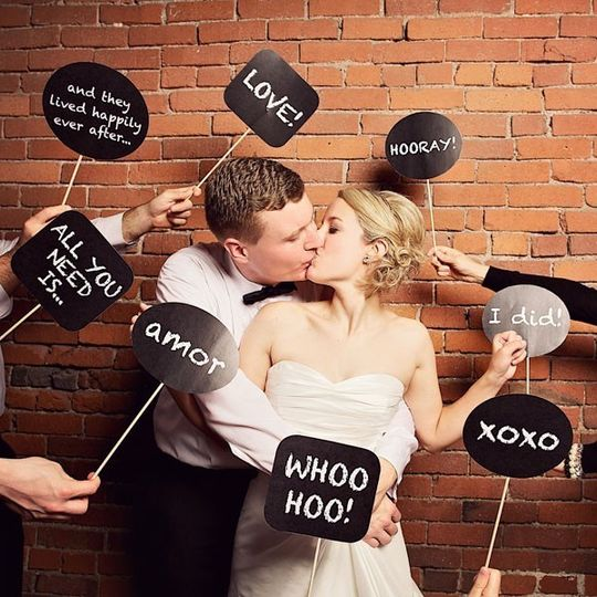 photo booth prop signs printable file