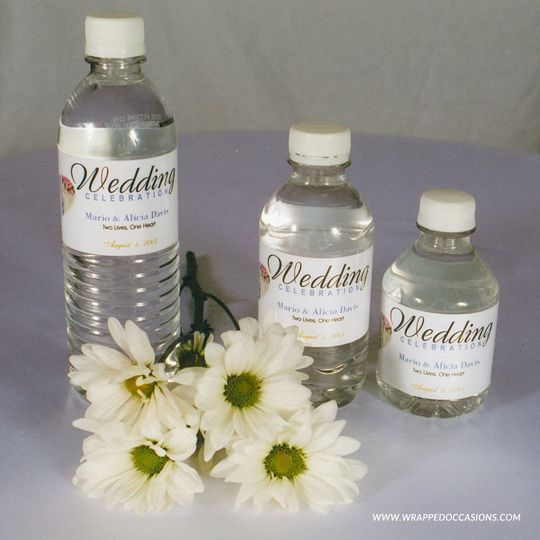 custom water bottle labels wrappedoccasions