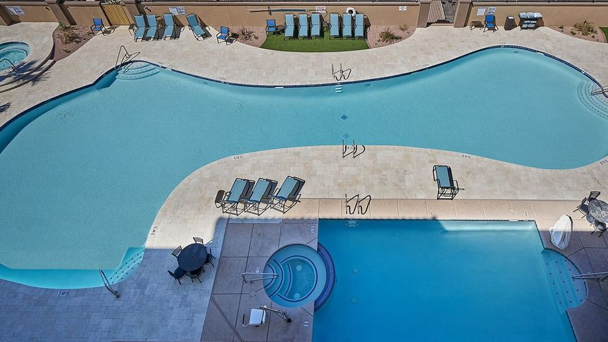 New pool side