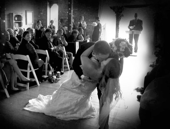 If you are going to walk down the isle you might as well kiss!