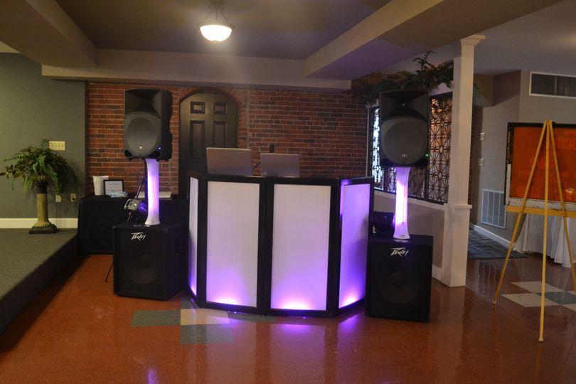 Simple DJ booth setup