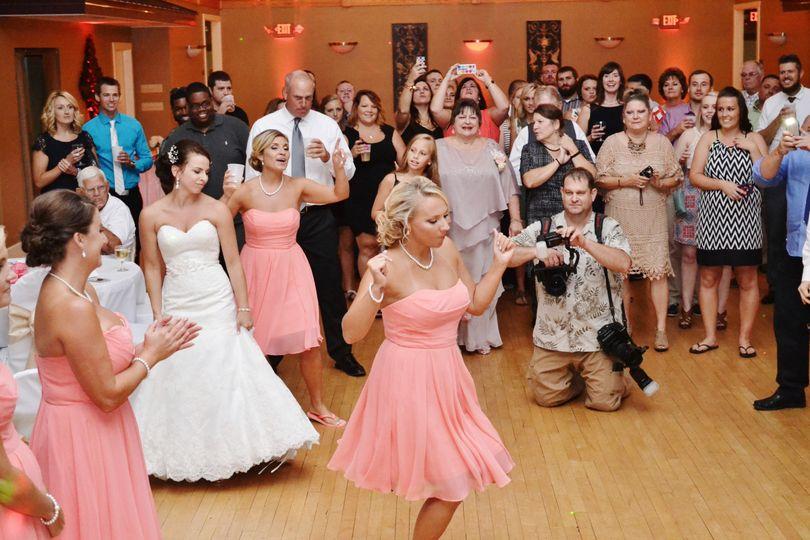 Bridesmaids on the dance floor
