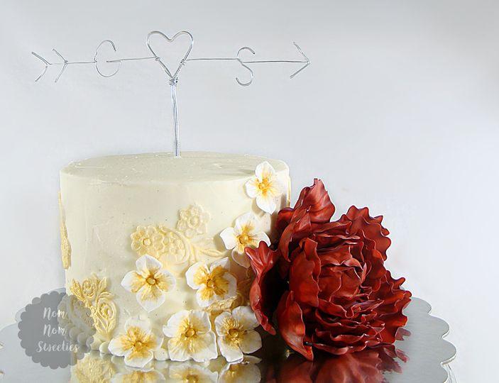 rusticpeonyweddingcake