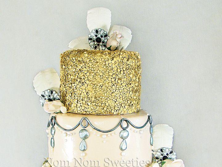 Tmx 1424291238787 Glam 20s Wedding Cake Owosso wedding cake