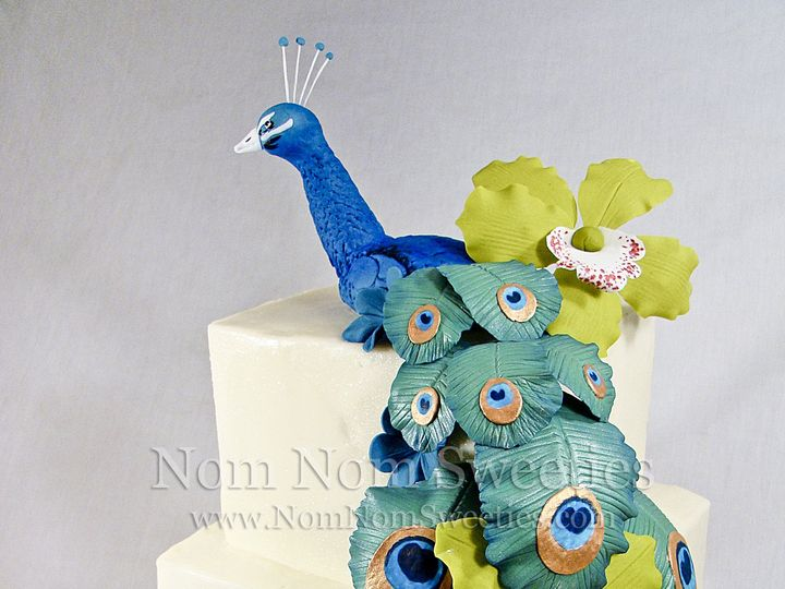 Tmx 1424291282217 Peacock Cake Owosso wedding cake