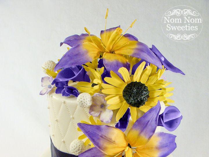 Tmx 1424291528180 Purple Floral Wedding Cake Owosso wedding cake